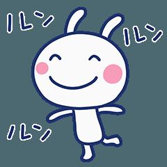 [LINEスタンプ] 想い伝える☆ほぼ白うさぎ