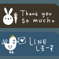 [LINEスタンプ] mottoの大人カラーチケット☆省スペース