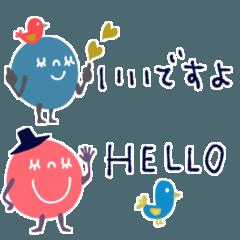[LINEスタンプ] mottoのカラフルチョコボールS♡省スペース