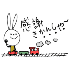 [LINEスタンプ] mottoのvうさぎ♡ダジャレ