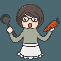 [LINEスタンプ] 眼鏡女子の使える日常会話★おかん編