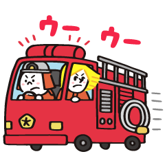 [LINEスタンプ] BROWN消防署【nakata bench】