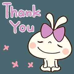 [LINEスタンプ] ありがとう☆うさぷるーん