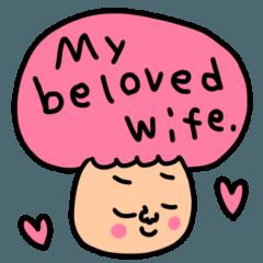 [LINEスタンプ] riekimの愛の英語スタンプ。