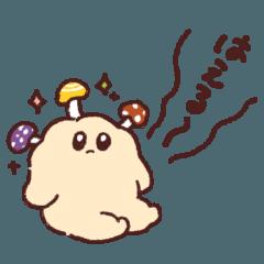 [LINEスタンプ] ( ˘ ˘ ) 秋に使いやすいおはぎ