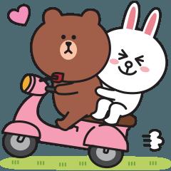 [LINEスタンプ] 楽しい日常♪BROWN & FRIENDS