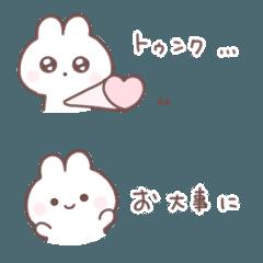 [LINEスタンプ] うさぎすたんぷ ◌* 省スペースの画像(メイン)