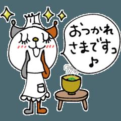 [LINEスタンプ] mottoの猫シェフとレシピ☆味噌汁