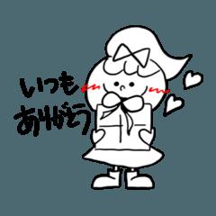 [LINEスタンプ] ゆるふわリボンの女の子