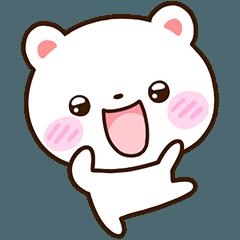 [LINEスタンプ] ちび白クマ