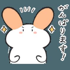 [LINEスタンプ] [敬語]ゆるい手書きのうさぎさん