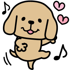 [LINEスタンプ] たれ耳のお友達♡