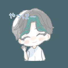 [LINEスタンプ] れんくん(オリキャラ)