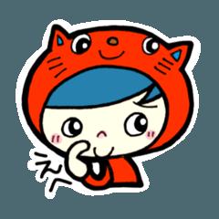 [LINEスタンプ] ネコにんげんニャーマン